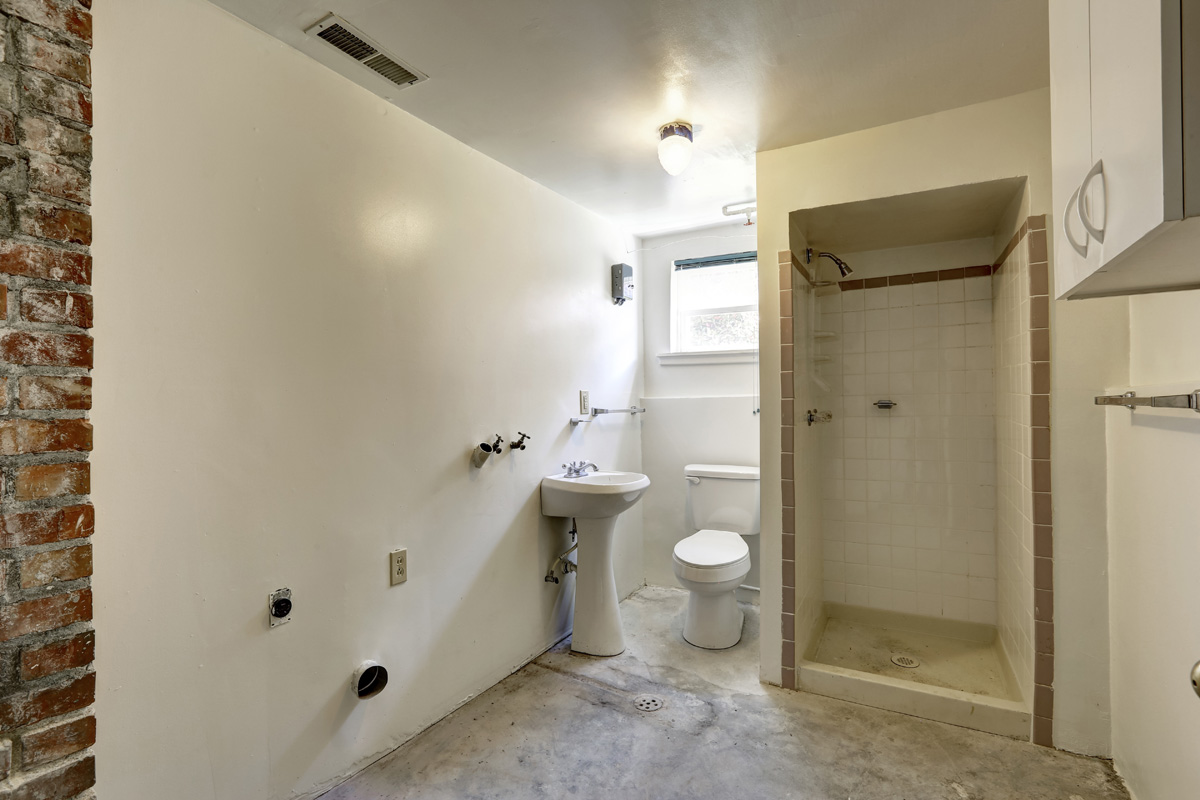 basement bathroom install remodel